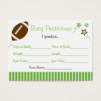 Football Baby Predictions Cards