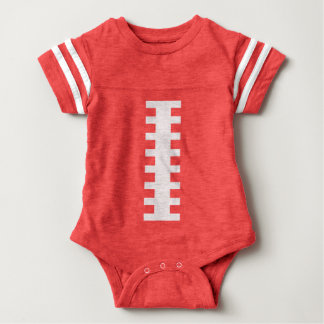 FOOTBALL BABY Red & White | Front Football Design Baby Bodysuit