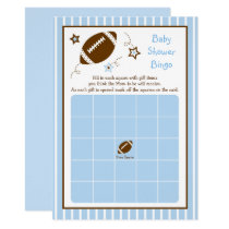 Football Baby Shower Bingo Card