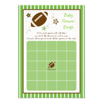 Football Baby Shower Bingo Cards
