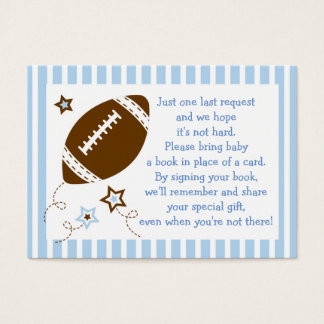 Football Baby Shower Book Request Cards