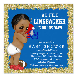 Football Baby Shower Card