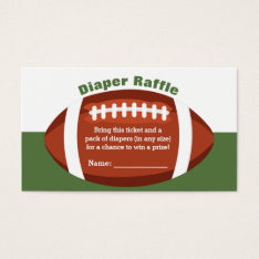 Football Baby Shower Diaper Raffle Ticket at Zazzle