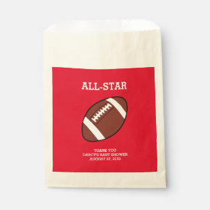 Football Baby Shower Favor Bags