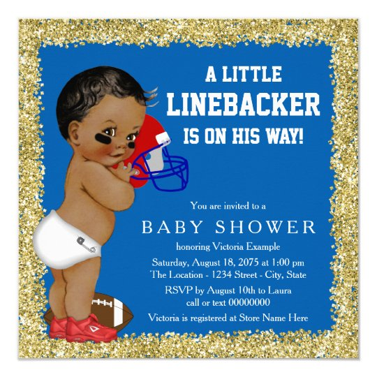 football baby shower invitation zazzle com