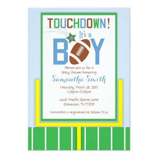 football baby shower invitation it 39 s a boy 5 x 7 invitation