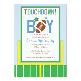 Football Baby Shower Invitation-It's A Boy! Card