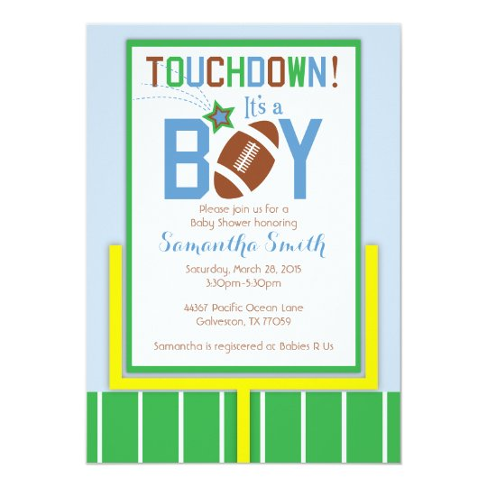 football baby shower invitation it s a boy invitation zazzle com