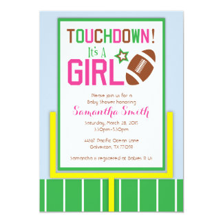 Football Baby Shower Invitation-It's A Girl! Card