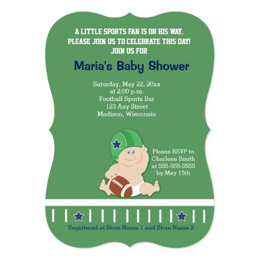 Football Baby Sports Baby Shower Invitation