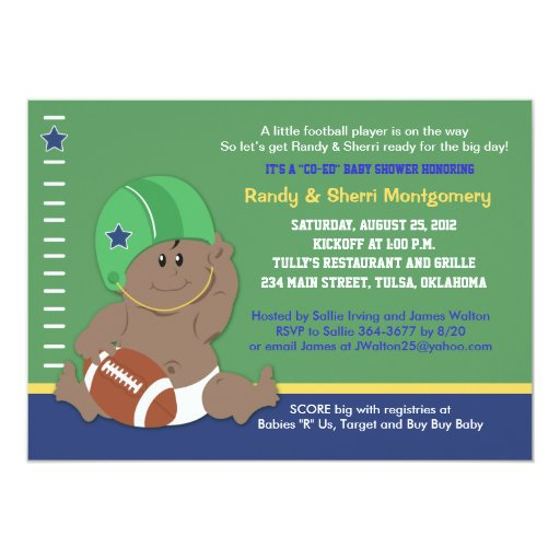 Football Baby Sports Theme Baby Shower (#2) Card
