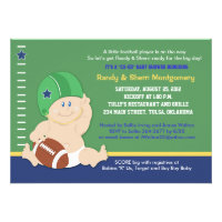 Football Baby Sports Theme Baby Shower Invite