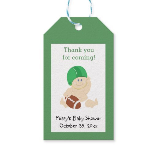 Football Baby Sports theme Custom Gift Tag