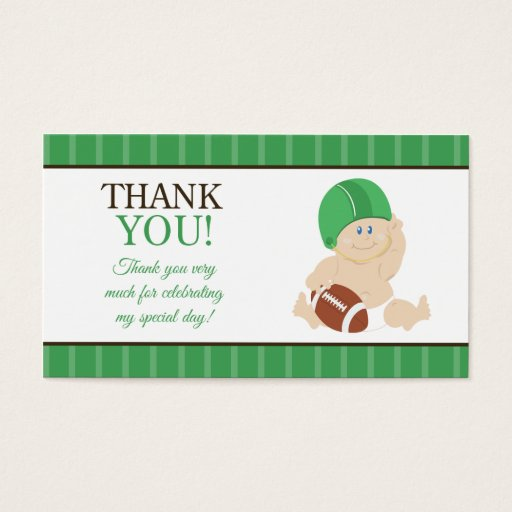 Football Baby Sports Theme Favor Tag Thank You