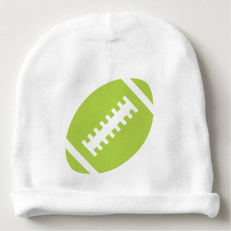 FOOTBALL Baby | Sporty Lime Green Football Graphic Baby Beanie