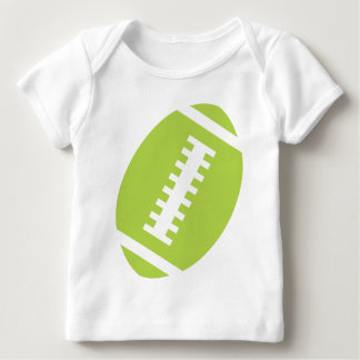FOOTBALL BABY White | Front Lime Green Football T Shirts