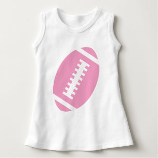 FOOTBALL BABY White | Front Pink Football Graphic Dress