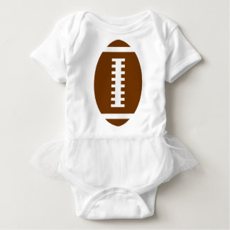 FOOTBALL BABY White Tutu | Front Football Graphic T Shirt