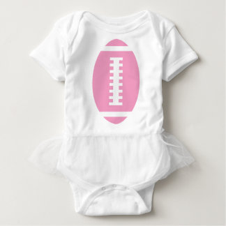 FOOTBALL BABY White Tutu | Front Pink Football Baby Bodysuit