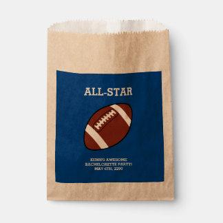 Football Bachelorette Party Favor Bags