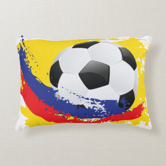 Football Ball and Strokes Accent Pillow