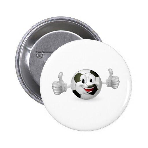Football Ball Mascot Pinback Button