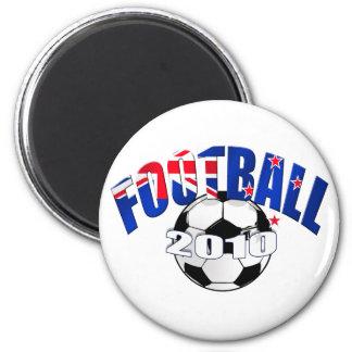 Football ball New Zealand flag Logo Magnet