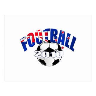 Football ball New Zealand flag Logo Postcard