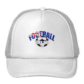 Football ball New Zealand flag Logo Trucker Hat