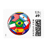 football ball with flags stamps