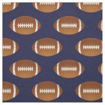 football balls on blue, pattern fabric