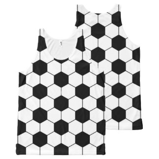 Football Balls Pattern All-Over Print Tank Top