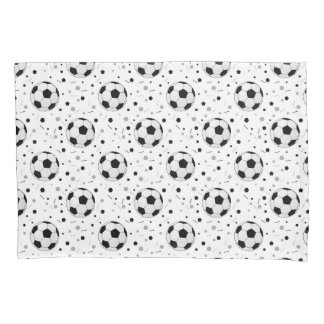 Football balls pattern pillowcase