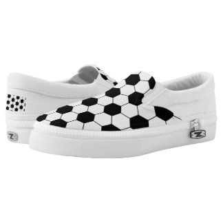 Football Balls Pattern Printed Shoes