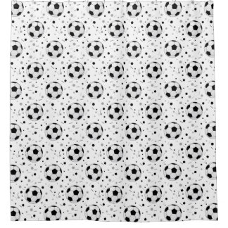 Football balls pattern shower curtain