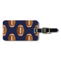 Football Balls Sports Bag Tag