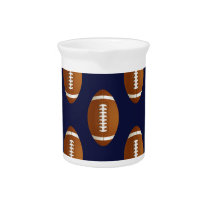 Football Balls Sports Beverage Pitcher