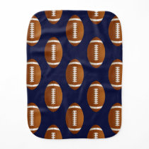 Football Balls Sports Burp Cloth