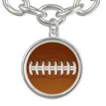 Football Balls Sports Charm Bracelets