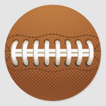 Football Balls Sports Classic Round Sticker