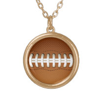 Football Balls Sports Gold Plated Necklace