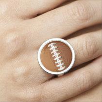 Football Balls Sports Photo Ring