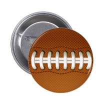 Football Balls Sports Pinback Button
