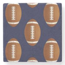 Football Balls Sports Stone Coaster
