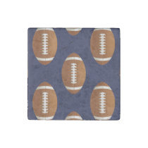 Football Balls Sports Stone Magnet