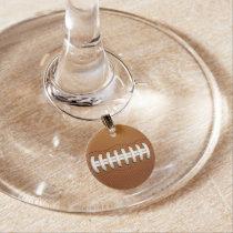 Football Balls Sports Wine Charm