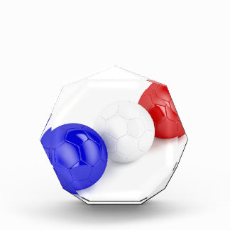 Football balls with flag of France Acrylic Award