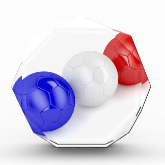 Football balls with flag of France Award