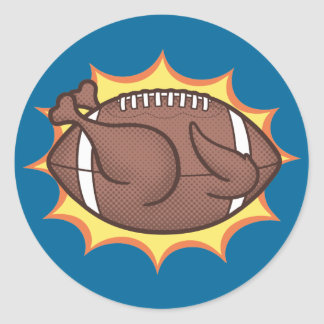 Football Barbecue Classic Round Sticker