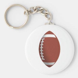 Football! Basic Round Button Keychain